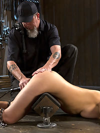 Making of a Masochist : Kagney is new to this and is eager to change that. She wants to know what she has been missing ou ton, so we lock this busty blonde slut into our first device. The Pope goes between pain and pleasure to fuck with her, yet not break her out of the gate. After she orgasms harder than she ever has, and not even sure why, we move to the next positions. Each one more grueling than the previous one to ensure she suffers. She is taken down a path of S and M, shown what real domination is, then made to orgasm. Her mind is still trying to comprehend what has happened to her, and she knows that whatever it is, she wants more.