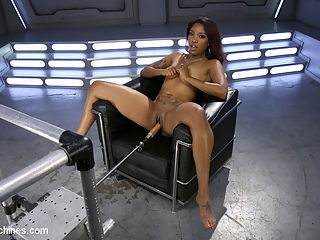 Ebony Squirt Slut Soaks Fucking Machines with Her Cum Love : It has been a couple of years since Lotus Lain graced Fucking Machines with her divine presence and magical-squirting pussy. This lady takes it hard in every position imaginable and begs for more. At max speed our fastest and hardest fuckers couldnt keep up with her as she unleashed wave after wave of dripping wet squirt filled orgasms. Lotus Lain is Fucking Machines gold. Enjoy!