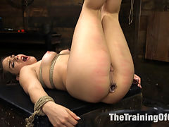 Training Kimber Woods to be the Best Little Anal Whore Ever : Kimber Woods is a thick ass brunette with a gorgeous face that makes all the dicks jump. But Tommy Pistol thinks she can do better, and Kimber begs her trainer for instruction to become the Best Little Anal Whore Ever.Kimber takes her lessons well. As reward, her round, fat ass is all tied up and fucked with plugs, gloves and Tommys hard dick - much to the little sluts delight. Enjoy Kimber Woods as she submits to Tommys will and gives up that ass like the Best Little Whore Ever.