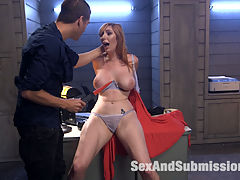 Scream Queen! : Lauren Phillips is fresh off the bus in Tinsel Town. When she answers an ad for a role in Xanders latest movie, she finds herself cast in his personal twisted narrative of bondage, captivity and anal sex!Big tit redhead beauty Lauren Phillips plays the perfect naive actress to Xanders creepy producer. The pair deliver a highly entertaining fuck-fest of hardcore sex, BDSM and fantasy role play!