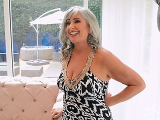Silva Foxx is a silver fox : Its time to get to know Silva Foxx, a 62-year-old divorcee who splits her time between Colorado and Arizona. As youll find out in this video interview, Silva was sent our way by 60Plus MILF Leah LAmour. Thanks, Leah! Although Silva is divorced, she has a significant other. Shes into BDSM. Shes a dom. Mistress Silva is her name. She rides horses. And other things. Shes a bundle of personality and energy.br br We asked Silva what she wants to do that she hasnt done yet, and she said, Im here, arent I?br br Yes, she is.br br Shes not a swinger or a nudist, although she and her man have had a foursome with Leah and her hubby, and Silva has eaten Leahs pussy.br br Silva came to our studio to fuck porn studs. She did that. Several times, in fact, and youre going to be seeing all of her scenes. She has no children or grandchildren.br br Im not a MILF, she said. So what am I?br br A cougar? A silver fox? Heck, lets not get too technical. Shes a MILF!