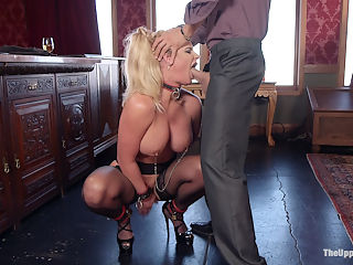 Anal MILF Phoenix Marie Trains Lazy Daughter-in-Law : Phoenix Marie is a high protocol anal submissive grand dame you would not want to cross, but self absorbed little slut Anya Olson has no idea what kind of family she has just married into. Petite, gorgeous, and in need of a spanking, Anya attempts to drive a wedge between Xander and his step-mother, but some ties cannot be broken. Phoenix has long been in service to Xander, offering all her holes and care taking the family mansion It is high time Anya be initiated into a sexual slave lifestyle under Phoenix perfect round ass.Xander begins Anyas training after a particularly bratty episode, using his belt to beat her ass and control her head for a hot sloppy blowjob. Once she has a swollen red butt and her sirs and thank yous down, she is strapped down to the bed in tight belt bondage, fucked mercilessly, and shocked while begging to cum.Phoenix will not be comforted, and continues to insist that Anya is untrainable. Xander puts her back under his foot, allowing her only to complain about his wife with his thick cock wedged deep in her throat or with an electric plug deep in her ass. With her huge tits clamped and her step-son pounding her swollen pussy, Phoenix promises to train Anya.The rest of the day is spent turning this pretty little newly wed brat into a humbled fuck toy, begging Mommy for all of her orgasms and thanking her husband properly for every stroke. Crops, rope bondage, zappers, and verbal humiliation are just the beginning for Anya. The true degradation is learning she must lick her husbands cock as he fucks his step-mothers ass before she can earn any of her own fucking. And if she squirts without permission, Phoenix will be there to punish her with an iron fist.