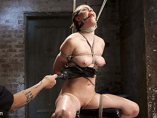 Casey Calvet Endures Brutal Bondage and Devastating Punishment : Casey and The Pope have a chemistry that compare to very few, and it shows as she submits to his every desire. The bondage is grueling from the first scene all the way to the very last second of the shoot. She suffers through brutal breath control, a 3 point suspension, her cervix being caned, and no stop torment. her orgasms are just as powerful as the rest of the shoot.