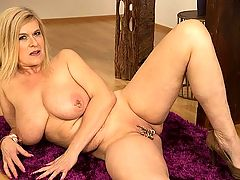 Marinas private show : Marina Rene, a DP MILF who loves cock in her pussy and asshole, puts on a show just for you in her return to i40SomethingMag.comi. Marina, whos 49 and from Germany, has so much going for her, its hard to say what aspect of her is best.br br The fact that shes a MILF?br br Her big tits?br br The way she loves to get fucked in her pussy and asshole?br br The jewelry on her nipples?br br The bunch of big rings hanging from her pussy?br br The fact that she loves sex and will do anything to please a man?br br All of those things are true, and in this video, we get to inspect her tits, pussy and ass without any man-ass getting in the way. Yeah, we know, you love hardcore, but sometimes its nice to see what a woman has to offer.br br Marina offers a lot.br br Shes a German swinger who is married to a very giving husband. He watched while she shot these photos and during her hardcore scenes.br br One of my favorite things is to have my husbands cock in my pussy and a strangers cock in my ass while a sexy woman sucks on my tits, she said. I enjoy double penetration, and with my piercings, the sensations send me over the edge. Its amazing to have two cocks in you.br br Here, she has none in her...but she imagines that she does, and one of them is yours.