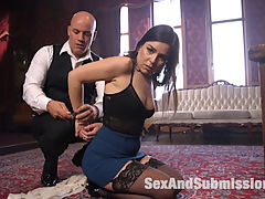 Help Wanted : When a beautiful but desperate grad student applies for a housekeeping job at a mysterious estate, her new job duties take her to the dark side of service, bondage and sex.Juliette March play a sexy and vulnerable young woman drawn into Derrick Pierces house of domination. Juliette submits to Derricks bondage, nipple clamps, gags, whipping, hard anal sex and sexy, sexy humiliation.