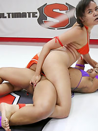 Wrestler Cums against her will in 100 competitive Erotic Sex Fight : Annie Cruz and Cali Confidential are two orgasmic balls of fire. This is a sexy , intense sex fight. One wrestler is pinned and tormented with aggressive fingering that leads to an orgasm on the mat. Winner take a sloppy blow job from the loser, take her pussy and her ass.Trib fucking, face sitting and Good hard core anal! This is a winner take all match