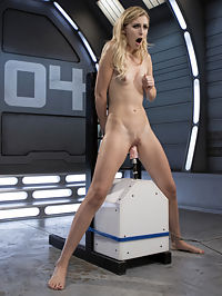 Petite Blonde Newcomer Fucks the Machines Like a Pro! : Alexa is slim and smoking hot. She is surprised by how the machines make her orgasm so quickly. She suddenly finds herself wanting more and more, and we see her turn into a machine slut. We may have made a new fan just from fucking this newbie so well.