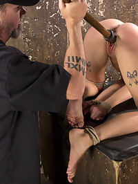 Hot Petite Blonde Surrender to Devastating Bondage and Torment : Rip her clothes off and lets have a look at this slut. She begins like all the rest, but this one seems different. Something about her brings out the worst in The Pope, and for her this could be bad. She is tormented and brutalized in extreme bondage, yet she seems to need this experience. Something is driving her to endure and sexualize the suffering, and The Pope feeds off of this.