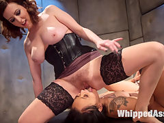 Anal Asylum Horny Nympho Patient Meets Equally Perverted Lesbian Doctor : Holly Hendrix is a sex-hungry pain slut being kept for observation by devious doctor Cherry Torn. Dr. Torns treatment for Holly includes bondage, spanking, pussy slapping, face slapping, foot torture, flogging, face-sitting, anal fisting, and vigorous anal strap-on fucking. Through countless orgasms, Holly continues to beg for more pain and orgasms.