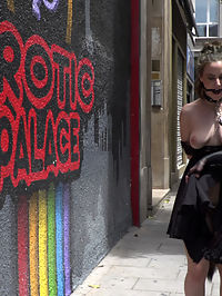 Spicy Submissive Spanish Slut : Silvia Rubi takes Aragne Spicy to the Spanish Kings Castle where shes gagged, collared, bent over, and caned by Silvia in front of all of the tourists, all while wearing a furry tale butt plug. Silvia then parades Aragne through a sketchy Madrid neighborhood on their way to a Salon where many handsy people of the public await to have their way with her. Steve Holmes and Juan Lucho take turns fucking Aragnes face, ass, and pussy while the public cheer them on. After being DPd by Steve and Juan Lucho every way till Sunday, Aragne swallows their two massive loads.
