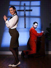 Anal Baptism : When a hardened criminal, Tommy Pistol, is paroled into a private halfway house run by Mormon Casey Calvert, Casey becomes obsessed with saving Tommy. But when Tommy triggers Caseys long repressed sexual yearnings, the odd pair gives in to their passion and have an oral sex romp. After their encounter, Caseys Mormon guilt drives her to thwart her budding romance and betray Tommy to his Parole Officer. Tommy reacts with the anguish of a felonious jilted lover he ties her up and punishes her. Then he fucks her in the ass. A couple of times.Casey hates herself for loving it. Tommy absolves Casey by holding her head in the toilet bowl as he fucks her ass, absolving her of all her guilt with her own Anal Baptism.