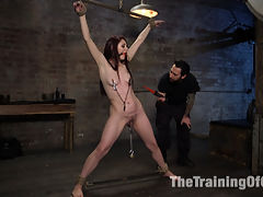 Training Violet Monroe : Beautiful and sultry Violet Monroe tests her limits as Tommy Pistols guides her through tight bondage, breath play and hardcore anal sex.
