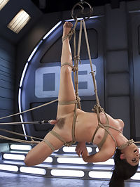 Roxanne Rae is Tied Up and Tormented with Anal Orgasms : The natural busty brunette Roxanne Rae is all tied up and squirming for deep fucking machine orgasms. Her pussy is dripping wet for the hitachi which she has no control but to submit to. That pink tight pussy begs for a deep hard fucking while fully suspended in rope bondage. This ass slut begs for more and the fucking machines know how to deliver explosive anal orgasms.
