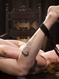 Bella Rossi Breaks in Redhead Lesbian Anal Slave : Mistress Bella Rossi has redhead bombshell Lauren Phillips bound and at her mercy. Lauren begs for orgasm while submitting to flogging, spanking, and finger banging. Next, Lauren is bound with all her holes exposed for her Mistresss pleasure. Lauren worships Bellas stocking-clad and naked feet before servicing her Mistress with enthusiastic pussy licking and ass licking. As a reward for bringing her Mistress to orgasm, Lauren gets a vigorous dick-on-a-stick fucking and tons of orgasms. Finally, Lauren is strap-on fucked in her pussy and ass while she continues to come over and over.