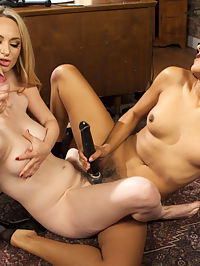 The Bitch Boss and the Office Snoop A Kinky lesbian threesome! : Submissive office slut Dolly Leigh gets caught snooping on lesbian office shenanigans involving her hot new boss Daisy Ducati and sexy goddess Aiden Starr. Both Dolly and Daisy get spanked, flogged, and strap-on fucked while undergoing intense lesbian slut training. After tons of squirting orgasms, Daisy receives an anal strap-on fucking and a strap-on DP from both her new co-workers.