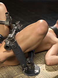 19 Year Old Brazilian in Devastating Bondage : She may be young, but this slut knows what she wants, and has the experience to know how she wants it. Gina begins bent over and locked in with steel, exposing her perfect ass. The Pope attacks her ass and pussy with floggers and then begins to fuck her pussy and mouth. Next Gina is suspended upside down against the wall. Her body is terrorized again before her holes are filled and used. In the final scene she is spread out on her back like the whore that she is. After some heavy breath control every one of her holes are violated and her feet are tormented.