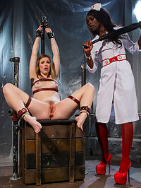 Ella Nova Desperately Needs Anal Lesbian Medical Therapy : Ella Nova just cant seem to escape dating all these awful men and decides she needs to see a specialist. Ana Foxxx diagnoses her with BDS Bad Dick Syndrome and has the perfect treatment for Ella in her medical dungeon. She needs to remove all the thoughts of nasty dick out of her head and cleanse her pussy of bad penis. Strapped up in leather bondage Ana brings out all her lesbian medical devices to treat Ella with superior orgasms at the hands of a woman. Ellas pussy begs for more. Pussy licking, metal dildos, hitachi, and corporal punishment are just the beginning. Ella must also be taught how to take a hard strap on fucking and deep anal submission to bring Ana Foxxx true pleasure.