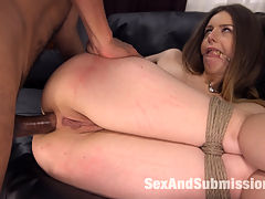 Immigration Authority : Voluptuous British Bombshell Stella Cox loves her naughty sex toy business but when she gets a visit from Federal Agent Mickey Mod asking for her legal paperwork she gets a dirty lesson in Immigration Authority! Mr Mod handcuffs Stella and crams his huge, thick cock down her little throat and she can take it sooo deep. Then he ties her up in 3 hot positions and Stella begs him Please put your big American cock in my ass! He fucks her ass and pussy until she cums and screams I love America!! Watch Stellas big natural tits bounce around while Mickey fucks her every which way but loose! mm mmm good!