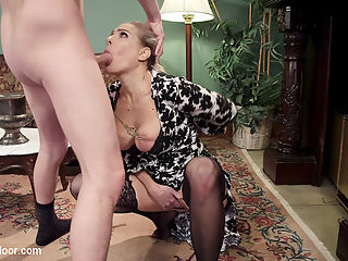 Squirting Step-Daughter Punish Fucked : Angel Allwood is a hot busty MILF wth it all A mansion and a younger boyfriend on the side. It all comes crashing down when her cute little piece of ass step-daughter comes to visit. Angels Dominant boyfriend grows tired of playing butler and takes both step-mother and step-daughter on a squirt filled bondage and sex training. From Angels brutal take down with rough anal, pussy clamps, a serious belting, and orgasm denial to Zoeys seduction with the zapper and cattle prod, hot squirting sex, and belt bondage, Seth keeps both these hot blond bitches under tight control. Bringing both blond sluts to heel in the master bedroom, Seth trains his new sex slaves, teaching Zoey to ask her Mommy for each squirting orgasm, training Angel to slurp up his cock after it comes out of her step-daughters ass. Using all four hot wet holes for his pleasure, Seth torments his new toys with zippers, candle wax, floggers, and orgasm denial until he is good and ready to serve them a meal of hot cum.