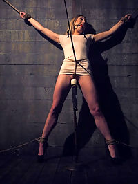 Blind Date : Luscious Lily LaBeau is tied up spread eagle against the wall in a dark, cold dungeon. She doesnt know how she got there or who tied her up. With clothespins on her hard nipples and a vibrator on her pussy some masked man Xander Corvus is having his way with her. Its the ultimate Blind Date! Lily loves getting her wet, slutty pussy fucked and she goes wild when Xanders thick cock pounds her ass out. Loaded with cropping, flogging, sloppy blow jobs, hard core pussy fucking, anal galore and drooling, mind bending orgasms.