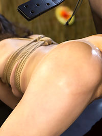 Tiki Takedown Cute pain slut bartender gets spanked and fucked! : Cherry Torn is cruising cute bartender Eden Sin hard. Luckily Eden is a huge slut and very willing to let Cherry dominate her at work. Eden gets cuffed, spanked, paddled, flogged, choked, slapped, finger banged, and a lesson in protocol from Ms. Torn. Next Eden is bound and suspended as she worships Cherrys pussy and ass. Pleased with her slut, Cherry fucks Eden hard with a big dick-on-a-stick as Eden comes over and over. The orgasms continue as Eden gets her ass pounded by a huge strap-on cock!