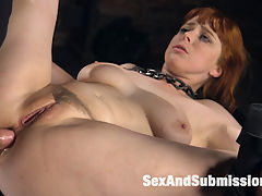Captive Slut : Pretty Penny Pax is all tied up with nowhere to go. Somewhere out there in a desolate, dark dungeon poor Penny is being held captive by John Strong. He is convinced she has stolen something from him so he is going to fuck the truth out of her. First he puts tight nipple clamps on Pennys huge natural tits and makes Penny suck his stiff cock until she is slobbering all over it. Then he vibes her pussy until she is screaming with pleasure. All day long Mr Strong has his perverted way with his captive little slut Pennyflogging, fucking, caning and then fucking again. Penny may be captive but she loves being used like a dirty whore. She cant get enough of Johns thick pounding cock as he sends her over the top again and again. Pussy fucking, hardcore anal, blowjobs, mind bending orgasms. This Captive Slut has never had it so good!