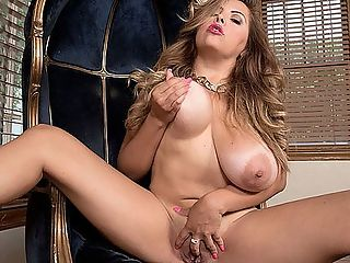 Big, Latina MILF Tits : If you look up the definition of big-busted Latina hottie in your Boobsters Dictionary, you will see pictures of Daylene Rio, Kitana Flores, Cat Bangles, Angelina Castro and many others, including the Colombian Tit Squad Shara Lopez, Katy Shavon and Shanie Gaviria. Now theres a new entry for the dictionary and this dime pieces name is Alessandra Miller, originally from Bolivia, and now a south Florida resident.br br Its a privilege to be a iSCORE iGirl, Alessandra tweeted. Good girls are just bad girls who didnt get caught, she joked. br br One of the hottest scenes I did so far was with Carlos Rios. It was amazing. Our scene came out so hot. I love to go down on this papi. I loved my scene with JMac. I couldnt get enough.br br Alessandra dances in this scene, stripping off piece by piece until shes totally naked in high heels, bouncing and shaking her big, natural boobs and giving herself the finger, building up to a wet cum.br br iSCORELANDi Do you like looking in a mirror during sex?br br bAlessandra I love it.bbr br SCORELAND Do you watch your videos alone or with a man?br br bAlessandra Alone. I like to feel myself.bbr br iSCORELANDi What is your favorite position for giving blow jobs?br br bAlessandra On my knees.bbr br iSCORELANDi Whats your favorite position for tit-fucking?br br bAlessandra Me on top.bbr br iSCORELANDi Where you ever an exotic dancer?br br bAlessandra No, too shy for that but Im a good dancer in private.bbr br iSCORELANDi How is porn sex different to you from private sex?br br bAlessandra They are both the same. I act like a porn star in private. I like to keep it real.b