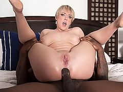 Dee Williams takes a big, black cock up her ass : This is 40-year-old Dee Williams first hardcore scene at i40SomethingMag.comi, and its as good as they get. Dees a hottie with cute, short, blonde hair and big tits. When the scene opens, shes saying goodbye to her husband, whos off to work. And shes ready to work on her pussy and asshole, using her fingers on her super-wet cunt and shoving a butt-plug deep inside her ass. And thats when Rob shows up with his big, black cock.br br Now, the thing is, you may shoot your load by the time the hardcore action begins, and we dont blame you. Dees pussy is that wet and her girlgasming is that loud and sexy. But if you havent shot your load already, youre going to when you see Dee gagging on Robs tool and making huge saliva strings. Talk about a messy blow job!br br Then Dee gets her legs all the way back so Rob can eat her pussy. She cums hard, and then he fucks her deep and she deep-throats his cock and sucks her pussy juices off of it, gagging again. He fucks her pussy every which way, and then he fucks her asshole every which way, including with Dees legs back in the pretzel position. And when Rob cant hold back any longer we have no idea how he lasted as long as he did, Dee opens her mouth for his cum.br br We dont know who enjoyed this scene more, Rob or Dee. But were sure you will. How many times will you shoot your load to Dee?