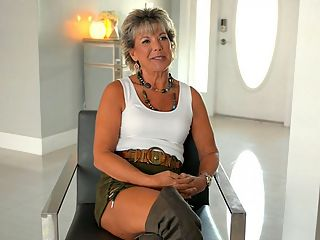 Getting to know newcomer Constance Joy : Now its time to get to know Constance Joy, a 52-year-old divorcee and mom who recently moved from Michigan to the west coast of Florida. Constance is sexy and personable, and shes wearing thigh-high boots that accentuate her long legs. Shes also wearing a short skirt, so we get a little bit of upskirt, too.br br Isnt it amazing that we get to see these women naked and fucking, but upskirt can still get us off?br br This interview was shot the morning after Constances first fuck scene, with JMac. She tells us all about it. She tells us how she ended up at i50PlusMILFs.comi. She tells us about her personal life and her swinging life. She says, For a lot of my life, I was caring for others, so now its time to take care of me.br br A little more about Constancebr br I normally do not wear panties.br br My perfect day would be a picnic on the beach followed by a beautiful sunset.br br She wants to go on an African safari.br br She has a 31-year-old daughter who doesnt know shes here.br br She likes being fucked for a good, long time.br br Think you can take care of her, fellas?br br br br br
