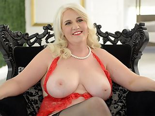 All about first-timer Anna Moore : Youre going to enjoy this interview with 43-year-old Anna Moore, a first-timer to fucking on-camera.br br For one, Anna is blonde and busty and has a very nice ass.br br Shes frisky. Shes fun. She tells a lot of stories about her sexual adventures.br br She used to be a Sunday school teacher and a high school math teacher. Now shes sitting here wearing barely-there lingerie and stockings.br br And one more thing She spends the last half of the interview with her tits out. Thats very nice, too.br br Anna is newly re-married. Shes a mother of four and grandmother of one. Shes from Michigan and now lives in the Tampa Bay, Florida area. She used to be a prude. Not anymore. Watch and learn.