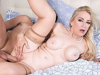 Robin orders sausage. Its delivered in her ass. : In this video, 61-year-old Robin Pachino, a divorcee and porn star from Los Angeles, fucks the delivery man. She calls up the restaurant and orders hot, spicy sausage. When Donny shows up, she wants his sausage, alright! She sucks it deep and has him fuck her pussy and asshole. Robin cums from getting ass-fucked. She cums from doing just about everything. She also indulges in a little ass-to-mouth action. Very nice. Very naughty.br br i60PlusMILFsi Hi, Robin. Welcome back! How have you been?br br bRobin Absolutely fabulous. Ive got this wonderful life where I do a lot of hiking and gardening and I have a rescue dog. Her name is Kelly.bbr br i60PlusMILFsi You first shot for us in 2005 when you were 50. How did doing those first scenes change you?br br bRobin It opened new doors and new opportunities for me. My old job was boring. My marriage was boring. My life was boring, and it stopped being boring and started being exciting. I love this. I really enjoy the pleasure I give people. I get so many calls and emails telling me about the joy I give people. That makes me feel good. Its important to a persons well-being to cum, and I have contributed to a lot of well-being!bbr br i60Plus MILFsi And you cum a lot, too, dont you?br br bRobin All the time! I have the best job in the world. I get to fuck and cum every day!bbr br i60PlusMILFsi Your whole life revolves around making people cum, doesnt it?br br bRobin Yes, it does. I am a lifestyle and professional submissive. I offer obedience without hesitation. I am deviant, perverse and experienced, and I love outfits like this. This one is mine. Im really into cosplay. I play Natasha Romanoff, Black Widow. I love to go to Comic-Con. I love fantasy costumes. I love making fantasies a reality! Thats why Im here!b