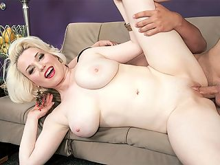The Goldie Rush : I can hardly wait to fuck that huge cock, Goldie Ray gleefully said while rubbing Als concealed weapon through his underwear. Aggressive aint the word for this slim blonde. br br Definitely one of the most-sexually voracious girls at SCORELAND, ever. No one expected this. The cameraman of this scene needed to have the camera pried out of his hand when it was over. Goldie climbs all over Als lap, sexy ass in the air. He begins to suck on her nipples and finger her pussy, finger-banging her slit and rubbing circles around her lips. br br Goldie springs up, hovers over Al and spits in her hand, then rubs her pussy to lube it. She guides his bloated shaft into her waiting cunt and begins riding it hard, bouncing forcefully on it like shes riding a mechanical bull at a western-themed bar. Slap, slap, slap goes the sound of her ass and thighs smacking into his lap as she bounces up and down. br br Suck on my fucking tits! she cries, a frantic tone in her voice. She screams for him to fuck her. Fuck that fucking pussy, motherfuck...! Goldie dismounts her human dildo and lays back on the couch in a missionary position demanding that Al fuck her. br br Get your fucking dick in me, cmon! Goldie yells, thumping the couch with her hand impatiently. Seeing Goldie yell, Harder, motherfucker! and hearing her breathlessly tell him to bang her pussy hard is a real eyeopener. Watching Goldie is the equivalent of mixing espresso and Red Bull and then getting an injection of adrenaline.