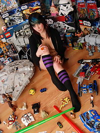 SpunkyAngels Horny geek Sabrina plays with her favorite toy in her tight little ass surrounded by her other kinda toys : Horny geek Sabrina plays with her favorite toy in her tight little ass surrounded by her other kinda toys