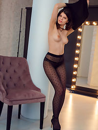 Sheer Stockings : Davina Sheer Stockings by Alex Lynn
