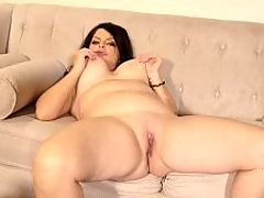 How many ways can Ivy make you cum? : My partner and I picked up a girl, and we were drinking wine and I just happened to fuck her with the wine bottle, said 48-year-old divorcee and mom Ivy Ices. She really got off on that. I like to be kinky.br br Ivy, who called herself Jade Steele the first time we saw her at i40SomethingMag.comi in 2014, gets off hard in this scene, showing off her big tits and big ass and fingering her pussy which, it so happens, hasnt been fucked in over a year.br br Ive been practicing celibacy, she said. I like to select my men. Im very selective.br br Actually, when she breaks her celibacy spell in the upcoming photos and video, well have selected the man for her. But Ivy approved, as youll see.br br This video kicks off with an interview. Then Ivy gets off.br br Ivy lives in Arizona. Shes into guns, archery and fitness. Shes practicing to get her pilots license. And as for the kinky side of her, she fucked one of her male friends with a strap-on.br br We hooked up one night and it happened. He enjoyed it. He came while I was fucking him.br br Which just goes to prove that there are many ways that Ivy can make a person, male or female, cum.