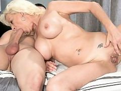 Anal on demand : When we asked 46-year-old first-timer Madison Paige what she wants to do that shes never done, she said, Climb a waterfall. Were not exactly sure how thats done, but were sure Madison will find a way. Will she get wet doing it? Of course. Madison is always wet.br br When we asked Madison what she wanted to do when she visited our studio, she said, Get ass-fucked by one of your studs.br br We definitely found a way to make that happen. As it turned out, Madison did anal both days she was in our studio. The second day, she took a big, black cock up her tight ass, but thats a story for another day.br br Madison is divorced. She was born in Rhode Island and lives in Florida. She has big tits and three piercings on her pussy. Two decorate her cunt lips. The other decorates her clit, so if you go down on Madison, therell be no doubt about where youre supposed to stick your tongue.br br Of course, you could tongue her asshole if youd like. Shed be fine with that.br br Madison enjoys billiards, boating, riding motorcycles, gardening in the nude, shopping and getting fucked in her ass. Not in that order.