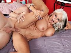 The Sally DAngelo Anal Fuck Show : I love cock in my ass, super-GILF Sally DAngelo says. A nice, big, hard, tasty cock pumping my little ass. It gets my pussy wet just thinking about having a big fucking cock in my ass.br br The first time I had a dick in my ass? Well, I was a lot younger than I am now, but it was exciting. We were fucking, and the next thing I knew, there it was! It was so hot. It made me so excited, so wet.br br In this scene, as a prelude to taking a real cock in her ass, Sally takes out a toy, spreads her legs and teases her butthole.br br You dont want to just jam it up there without a little tease, right? Sally says.br br Well, actually, we do, but were willing to be gentlemen about it.br br Then she stops teasing her asshole and shoves the toy deep inside. Her stud shows up and fucks her asshole with the toy. Sallys really enjoying herself and cums for the first of many times in this video. Then, with the toy still jammed inside her asshole, she takes out his cock and sucks it. Notice how good Sally is at sucking cock and fucking her pussy with a dildo at the same time. That takes skill.br br Then the guy fucks her mouth and huge tits at the same time. That doesnt take skill. It just takes instinct. He fucks her shaved cunt, and Sally makes those girlie moaning noises shes famous for while talking dirty.br br I love that dick! she says. It makes my pussy feel so fine. Stick it right through my chest. br br And then she cums again and again. And she still hasnt had that cock in her ass. But she finally gets the cock in her ass and has one analgasm after another.br br The guy? He cums once. He squirts his load in Sallys mouth, and she swallows every drop.br br What a woman!