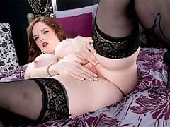 Milk-Filled Tits : The wickedly beautiful redhead Bebe Cooper treats us one more time to a milk-friendly photo spread and video. Even if you are lactose intolerant, Bebell still turn you on with her porcelain skin, blue-veined milkers, seductive gaze and juicy pussy. She sure picked the right name.br br Bebes breast and nipple squeezing are captured in close-ups. Those nipples are just unforgettable. So pointy, elongated and perky, surrounded by pink areolae, like mountains of flesh.br br A sheet of glass is placed between Bebe and the camera so she can do her thing. Sending streams of her breast-milk straight at us! Then Bebe shifts her attention and ours to her gorgeous pussy. She pleasures her pink snatch in several cock-stiffening positions, her nipples still erect the whole time! How does one thank a hottie like Bebe for what she does for us all? A simple compliment will do!