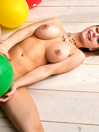 Presenting Yelena : Newcomer Yelena shows off her big tits and luscious body on the floor.
