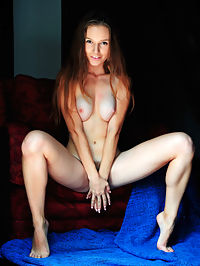 Jsemi : Nerdy Sofi Shane flaunts her hairy snatch while reading on the chair.