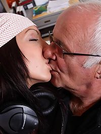 Lucky Old Man : A horny old man gets to fuck a young attractive sexy girl