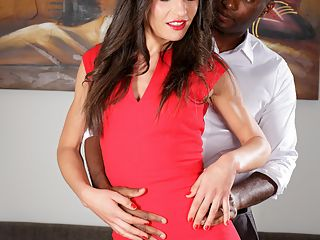 Interracial sex : Elegant cutie gets nailed and facialized by a black guy