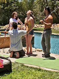 Sex Party : A nice party with friends turns into a huge sex party!