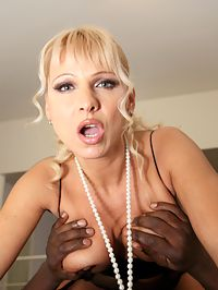 Milf BBC : Big breasted milf goddess sucking and fucking a monster BBC