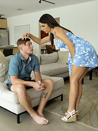 MomsTeachSex.com - Three Steps To Fuck Your Step Mom - S12E1 added to MomsTeachSex.com : Moms Teach Sex - Three Steps To Fuck Your Step Mom - S12E1 featuring Eva Long. Added On Dec 27, 2019 Description Oliver Flynns video on Three Steps To Fuck Your Step Sisters was such a huge success, he figures he can hit big on a sequel. This time, he has his sights on his step mom, Eva Long. Just like the plan with his stepsisters, Oliver takes time to lay the groundwork. Its important to make his stepmom think that fucking her stepson was her idea. He achieves this by making sure that she accidentally-on-purpose sees him naked. When Eva freaks out, Oliver follows her to her room so he can comfort her. He follows that up with compliments when Eva complains about her weight, which sets the stage for Eva to find Oliver sensitive and sweet. He goes on to let his mom know he thinks shes beautiful.The final, penultimate step of Olivers plan is to rock a boner in plain sight. When Eva sees it, Oliver acts embarrassed even though he knows his plan is about to come to fruition. Eva assures him that its natural. From there, its only natural, of course, for mom to make a move. As Oliver planned all along, Eva has been daydreaming about Olivers dick since she saw it earlier. Once Eva has popped Olivers cock out and started stroking it, theres no going back. Soon enough Evas lips are wrapped around Olivers fuck stick sucking him off in a hot and horny BJ.Getting to her feet and letting her dress fall to the floor, Eva turns around and spreads her ass cheeks so Oliver can get an eyeful of her chocolate starfish and pussy. Her hands shift to her big boobs as Oliver leans in for a pussy feast. Then she sits down on her stepsons dick as Oliver guides his mommy with his hands on her hips while she rides him. Her reverse cowgirl ride transitions to Eva on her hands and knees with Oliver pounding her lush snatch. Then he gets mom on her back so he can finish her off with a hand wrapped around her neck. Pulling out, Oliver jizzes on Evas stomach as the final act of his stepmom seduction.