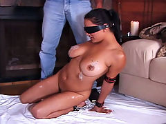 Candle Play : Restraining a hot slut is only the beginning. Once subdued and hogtied, she must submit to such tortures as the hot candlewax treatment. OW!