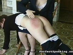 Savage Paddling : This young disciplinarian in training is taking the young girls at her school to task. A pair of scenes featuring traditional British schoolgirl caning, paddling and spanking.