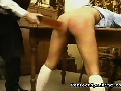 Sting of the Cane : Two girls are sent for private tutoring, but when the mistakes pile up, the tutor is forced to use harsh corporal methods to correct them. Get a math problem wrong? Thats a paddling. Spelling mistake? Feel the lash of the cane, stupid bitch!