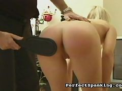 Carly Caned : Hot Blonde Carly gets spanked and caned