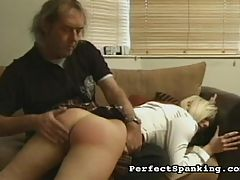 Throbbing Ass : Hot Blonde Carly gets spanked and caned